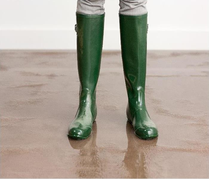 boots on flooded floor