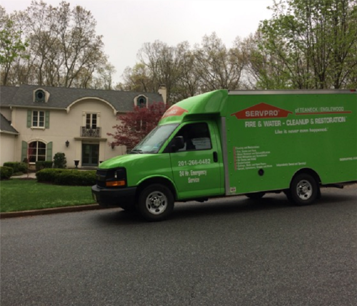 SERVPRO truck in front of home